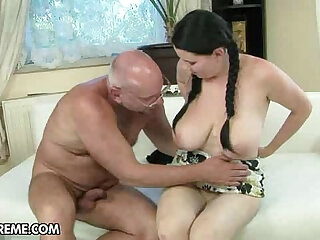 Old and young porn scenes focusing on intergenerational lust