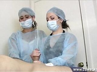 Two Nurses Tag Team A Dick