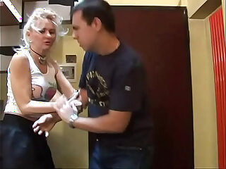Crazy sex a man abused and brutalized by a hot blonde!