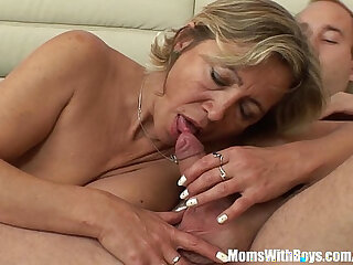 A Mature Beauty In Stockings Fucked By Stepson