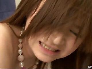 Sweet Rui Yazawa in her school uniform sucks a hard cock