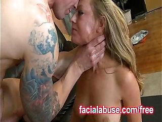 Busty Bitch Gets Her Throat Poked