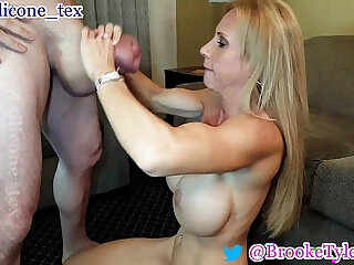 MILF Pornstar Brooke Tyler and monster cock Silicone Tex