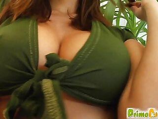 Prime Cups Jiggling her big tits while toying her ass