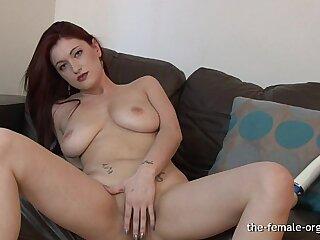 Big Natural Breasts and Horny Masturbation to Orgasm