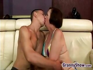 Granny And A Boy Having A Great Time