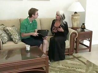 Nerd Fucks Mature MILF Sally Dangelo