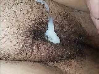 Fingerbanging and fucking my sleeping wife and cum on her pussy