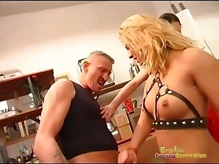 Dominatrix Is Rough With Her Trainees