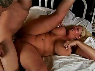 Beautiful tits blonde old spunker enjoys a sticky facial cumshot