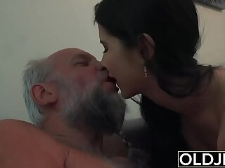 Lady Dee Teen tight Pussy Licking And Fuck Ends with Facial From Grandpa