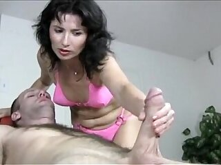 Naughty hot Milf Gives Handjob Massage