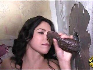 Girl Next Door Interracial Gloryhole!