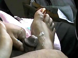Indian college Girl Foot job in the car xvids