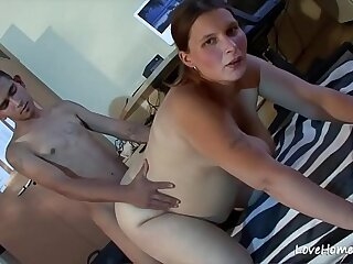 Pregnant chick with saggy tits getting pussy fucked