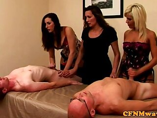 CFNM euro milfs tugging competition
