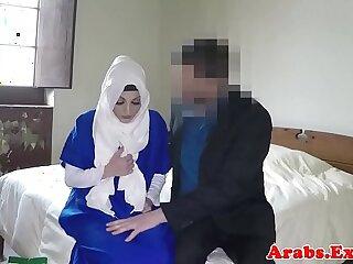 Arabian beauty gets fucked and jizzed in mouth