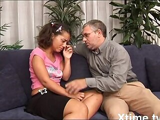 Teenager finds solace with her cock