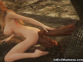 3D Elf Girl Destroyed by Dragons!