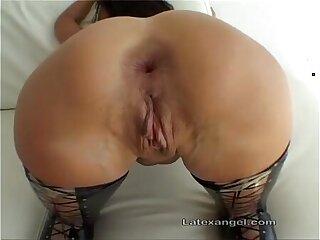 Latex butt slut