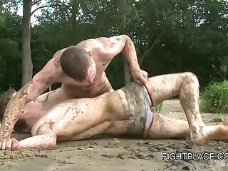 Gay Wrestling on Fightplace Beach and Boat XXX