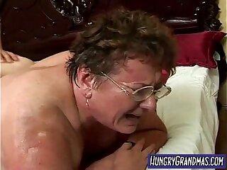 sweaty fat granny pussy fucked