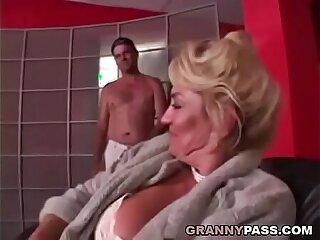 Busty Grandma is getting pussy stuffed