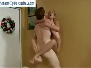 Wenona in hot milf mom challenges son to wrestle and gets her cunt fucked deep and hard