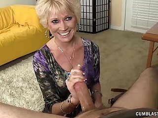 Topless Granny WIth Cum