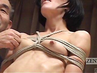 CMNF Subtitled cfnm Japanese nose BDSM with Elise Graves