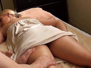 blonde babe massaged vanessa cage