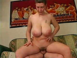 Mature amateur woman playing with big boobs having sex with husband