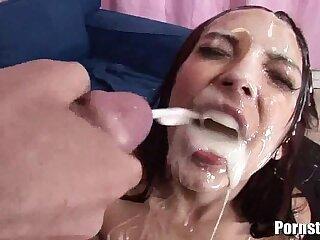 Danni Cole Gets A Bukakke Treat From Huge Cocks