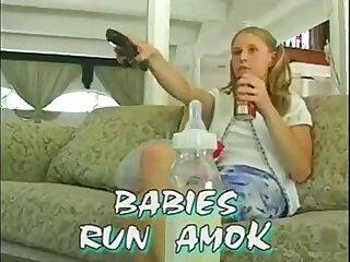 Two guys fucking sweet babysitter