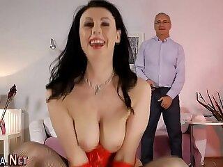 Mature brit anal creampie