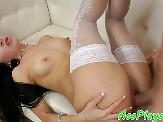 Glam beauty assfucked in stockings