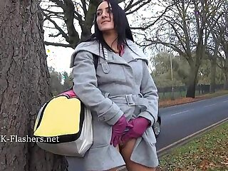 Dark amateur Chloe Lovettes public flashing and outdoor babes naughty exhibition