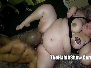 monster black dick redzilla bangs her BBW white pussy mixed ho