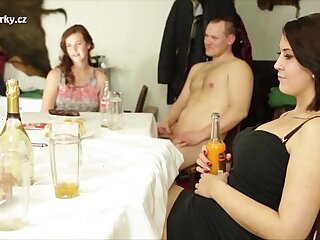 Bizarre orgy session with sex crazy czech people