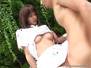 Japanese Gets A Poolside Pussy Pounding