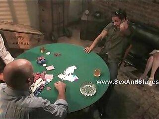 Girlfriend watching man loose at poker