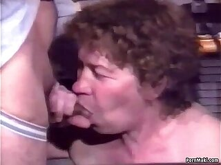 Hairy granny anal group sex