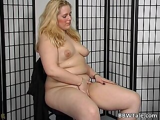 Chubby blonde is willing to give her