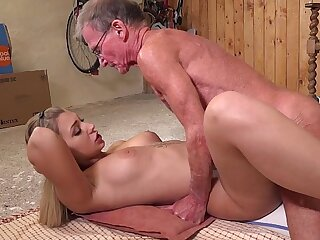 Babe is fucked anal while masturbating