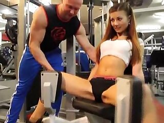 Sexy busty girl in GYM More