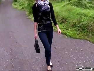 Public Hardcore Sexy babes fucked outside in public